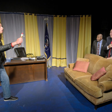 Review: NOVEMBER at Habakkuk Theatre